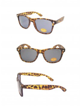 Medium Size Wayfarer Style Sunglasses, Rubber Matt Tortoise Shell(Smoke Lens)