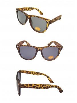 Classic Wayfarer Sunglasses, Rubber Matt  Demi (Black Lens) - Bigger Size