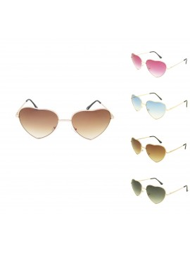Classic Heart Shape Metal Frame Sunglasses Assorted(Version 1)