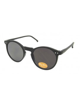 Oroze Round Lens With Metal Spots Vintage Sunglasses, Shiny Black(Smoked Lens)
