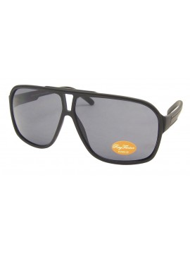 Aldea Flat top Plastic Aviator Sunglasses, Shiny Black