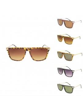Normak Flat Top Metal Arm Sunglasses, Asst