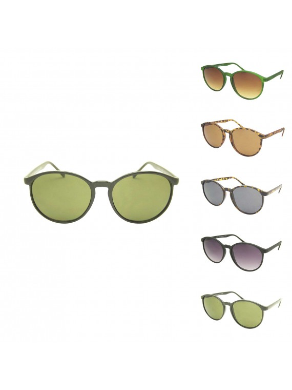 Elis Round Slim Frame Sunglasses, Normal Lens Asst