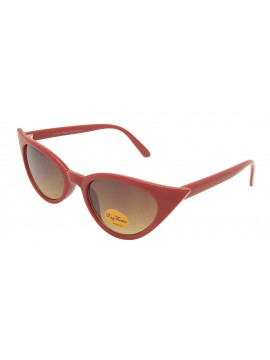 Urbum Happy Cat Eye Sunglasses, Shiny Red