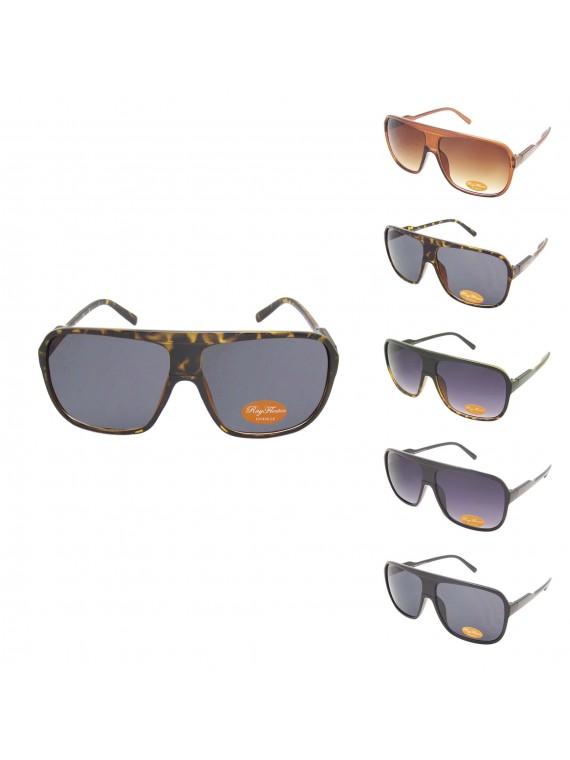 Arnold Oversized Flat Top Aviator Tinted Lens Sunglasses, Asst