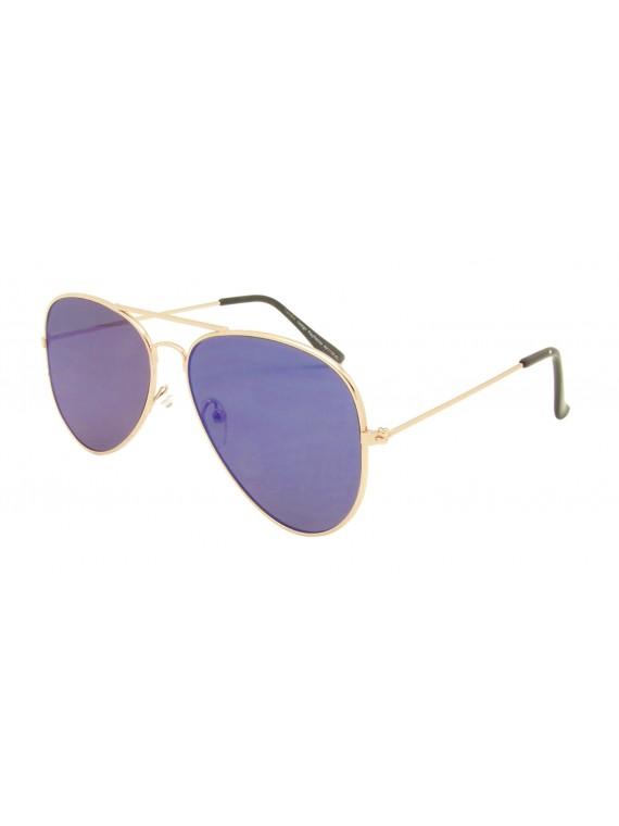 Codie Aviator Sunglasses, Flat Lens Asst