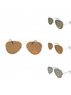 Rod Aviator Sunglasses, Flat Lens Asst