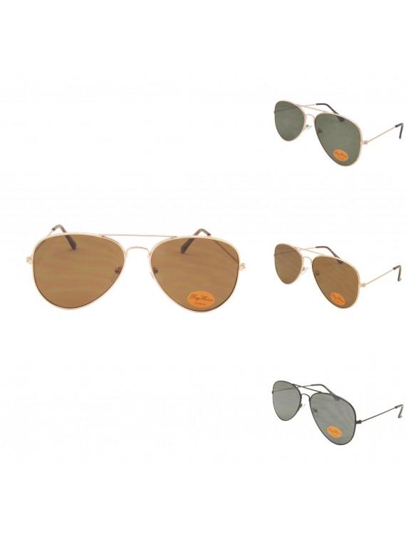 Rod Aviator Sunglasses, Flat Lens Asst