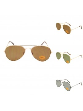 Juan Top Gun Aviator Sunglasses, Flat Lens Asst