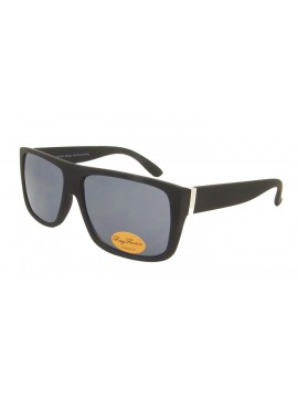 Rocho Flat Top Square Fashion Sunglasses, Rubber Matt Black Whole Black Lens