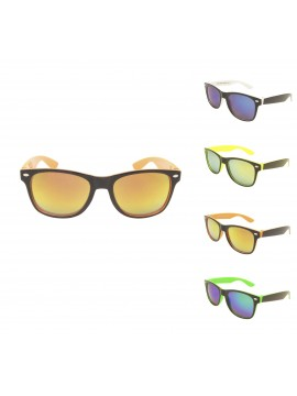 Kidi Movii Wayfarer Style Sunglasses, Kids MIrrored Lens Asst