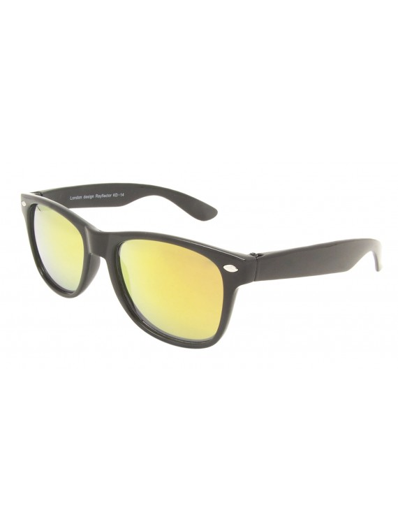 Kidi Diago Wayfarer Style Sunglasses, Kids Mirrored Lens Asst