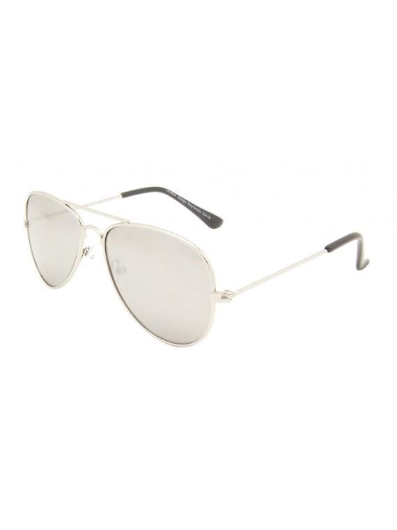 Kidi Levia Aviator Sunglasses, Kids Silver Mirrored Asst