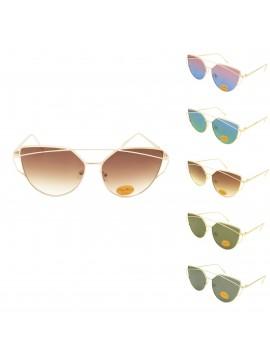 Ponica Metal Frame Fashion Sunglasses, Asst