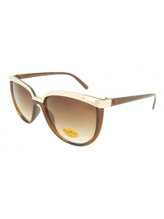 Anise Retro Metal Eyebrow Sunglasses, Asst