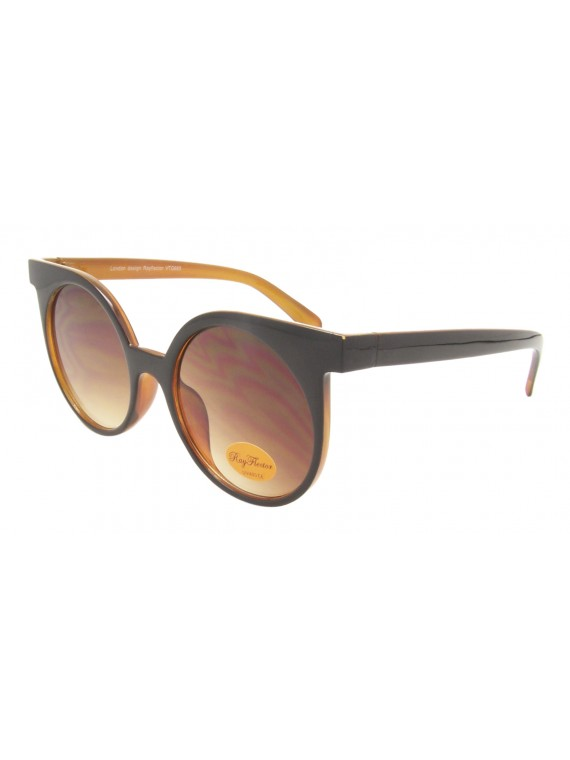 Heron Retro Oversized Round Sunglasses, Asst