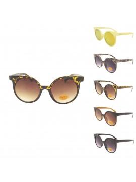 Heron Retro Oversized Round Sunglasses, Asst