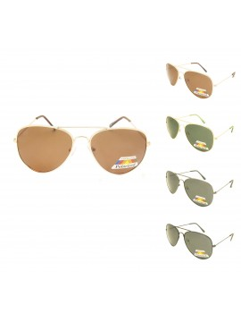 Krova Metal Aviator Sunglasses, Polarized Asst