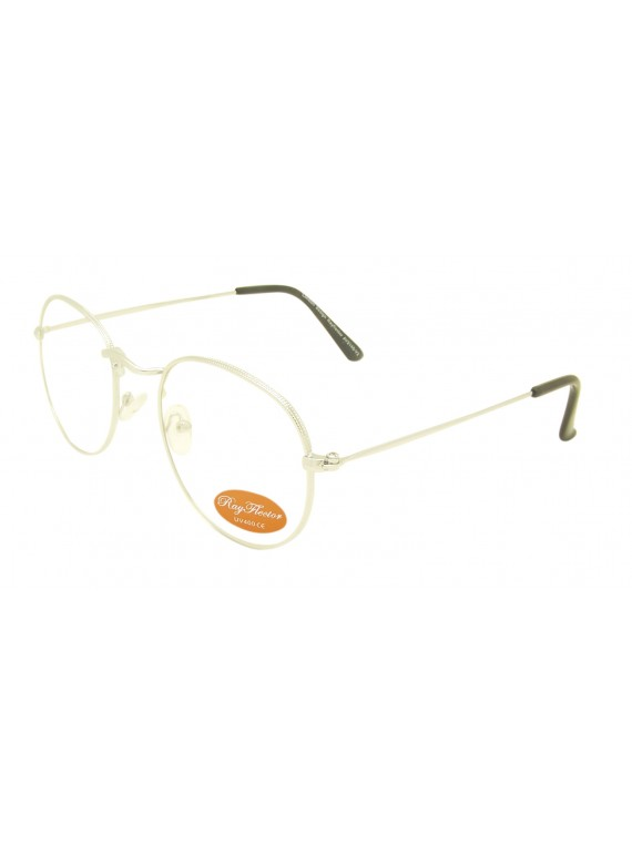 Jumi Retro Metal Frame Sunglasses, Clear Lens Version 2 Asst