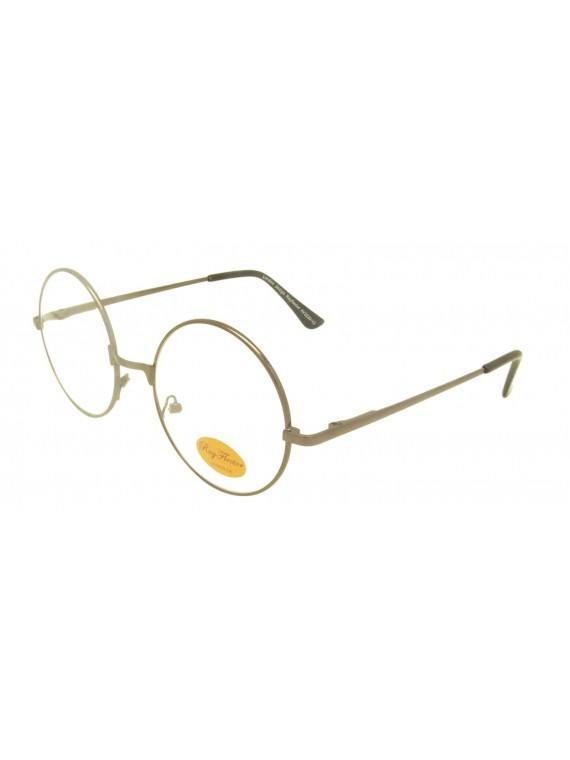 Ontur Round John Lennon Style Clear Lens Sunglasses, 3 Colors Asst (V2 Version)