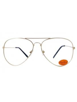 Anna Aviator Clear Lens Sunglasses, Vintage Gold Colour Frame
