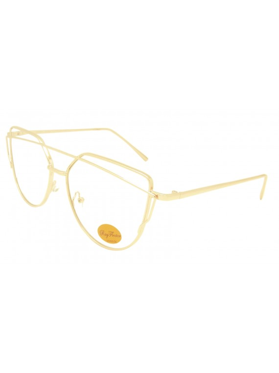 Ponica Metal Frame Fashion Sunglasses, Clear Lens Asst