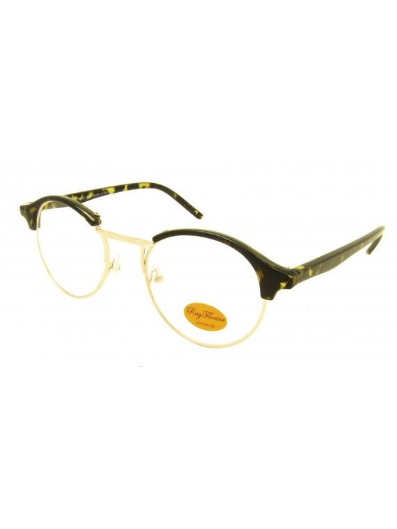 Classic Rob Clubmaster Sunglasses, Clear Lens Asst