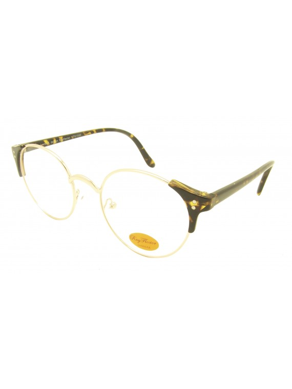 Classic Kero Clubmaster Sunglasses With Dots, Clear Lens Asst