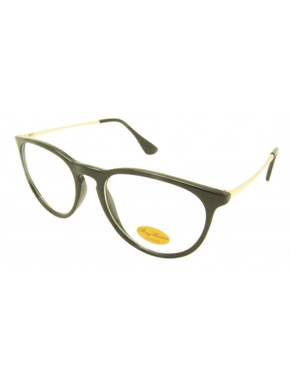 Tiana Vintage Cateye Style Sunglasses, Clear Lens Asst