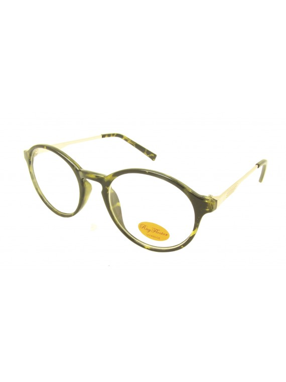 Challie Retro Round Sunglasses, Clear Lens Asst
