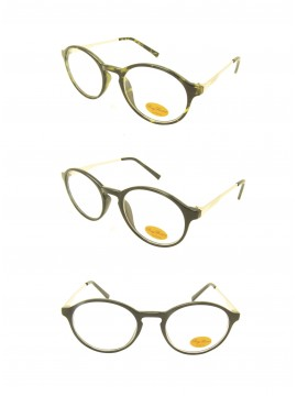 Challie Retro Round Sunglasses, Clear Lens Asst