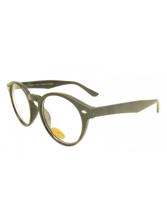 Molarie Vintage Round Sunglasses, Clear Lens Asst