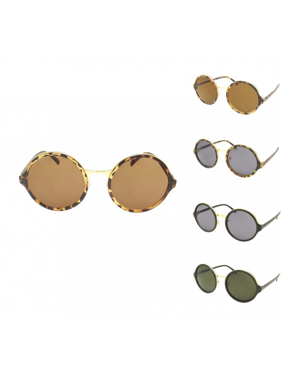 Acos Round Oversized Sunglasses, Normal Lens Asst