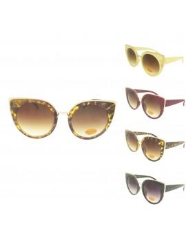 Winro Vintage Oversized Cat Eye Style Sunglasses, Asst