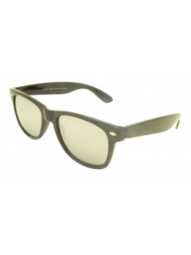 Classic Modern Wayfare Style, Shiny Black With Silver Mirrored Lens