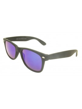 Classic Modern Wayfare Style, Rubber Matt Black With Green Mirrored Lens