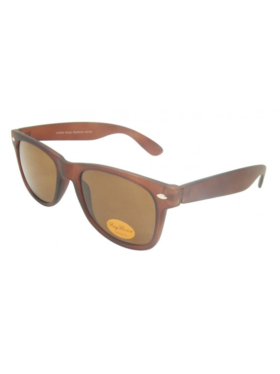 Classic Modern Wayfare Style, Rubber Matt Trans Brown With Whole Brown Lens