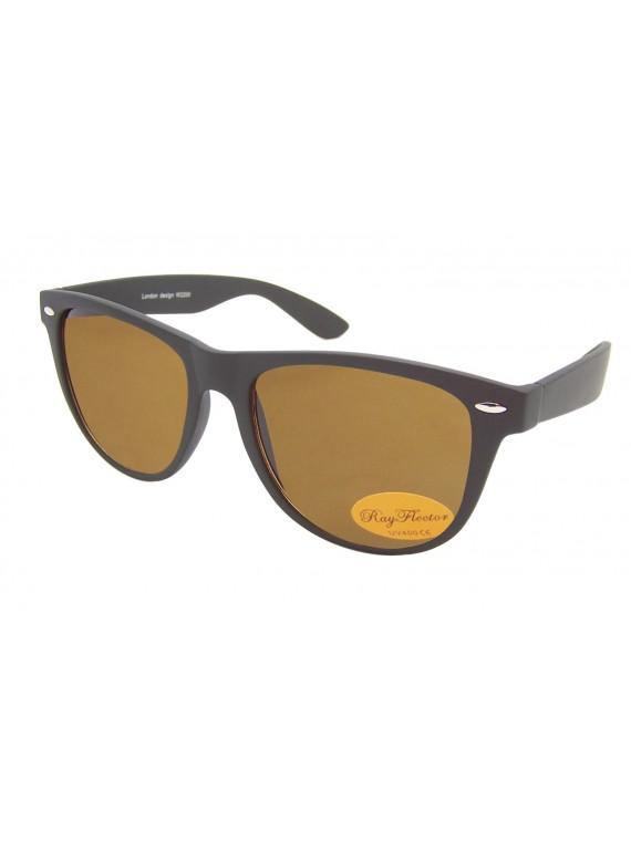 Classic Wayfarer Style Sunglasses, Rubber Matt Brown(Brown Lens) - Bigger Size