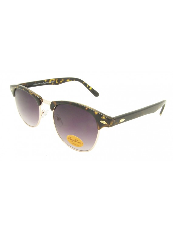 Classic Clubmaster Sunglases, Demi Brown Frame With Smoke Gradient Lens