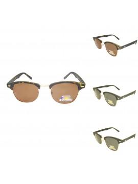 Roia Classic Clubmaster Wayfarer Style Sunglasses, Rubber Matt Polarized Asst