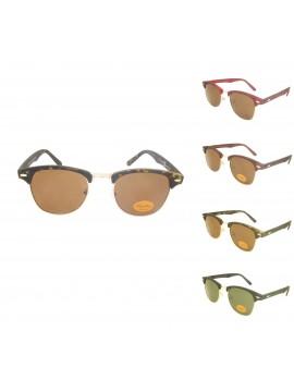 Triova Retro Clubmaster Sunglasses, Rubber Matter Asst 2