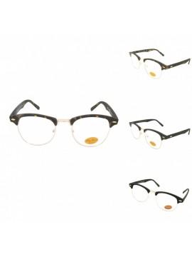 Yoki Clubmaster Glasses, Clear Lens Asst