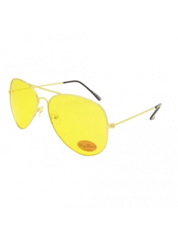 Budie Aviator Sunglasses, Yellow