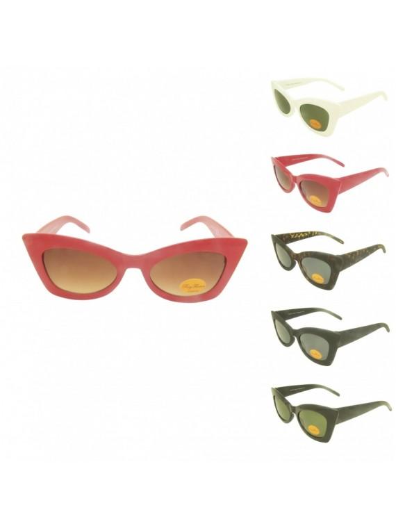 Jasy Cat Eye Styles Sunglasses, 5 Colors Asst