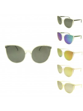 Wrio Fashion Sunglasses, Mirrored Lens Asst