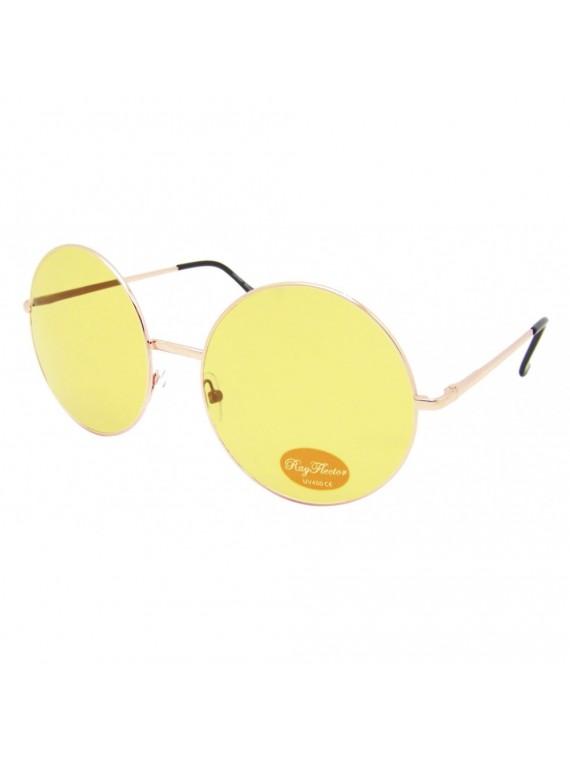 Lien Big Round Colored Lens Sunglasses, Asst