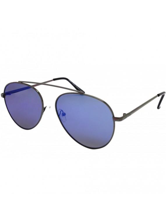 Donie Aviator Sunglasses, Mirrored Lens Asst