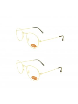 Jumi Retro Metal Frame Sunglasses, Clear Lens Asst
