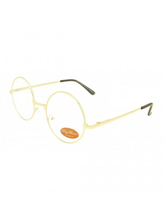 Ontur Round John Lennon Style Clear Lens Sunglasses, 2 Colours Frame Asst