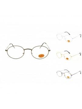 Erik Vintage Metal Frame Sunglasses, Clear Lens Asst